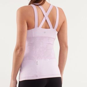 Lululemon Chaturanga Rose Quartz Strappy Back Tank